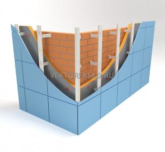 Вертикальная система под металлокассеты Г-образная