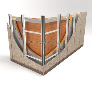 схема фасада здания