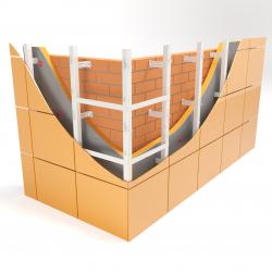 Вертикальная система под керамогранит С-образная усиленная
