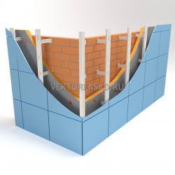 Вертикальная система под металлокассеты C-образная