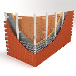 Вертикальная система под клинкерную плитку