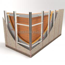 Межэтажная система под фиброцементные плиты