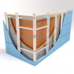 Межэтажная система под металлокассеты