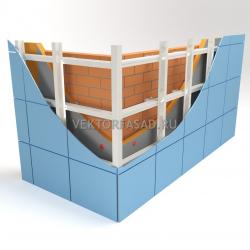 Вертикально-горизонтальная система под металлокассеты