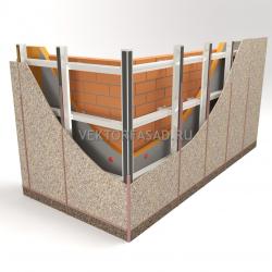 Вертикально-горизонтальная система под фиброцементные плиты